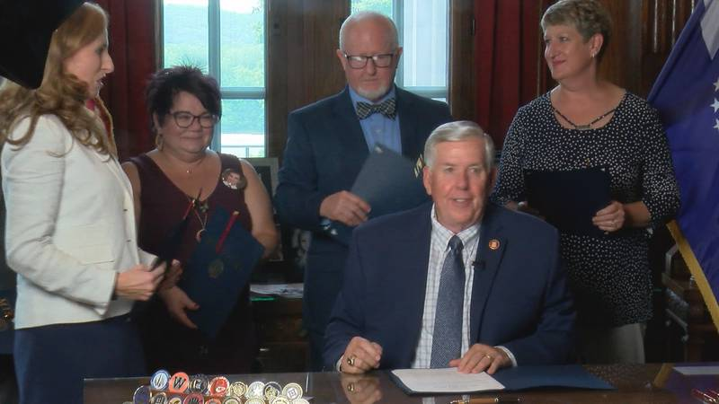 Governor Mike Parson signed Senate Bill 63 on Monday, June 7.