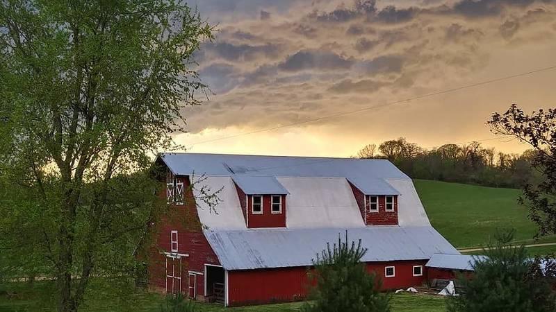 A beautiful view of a farm in Oak Ridge, Mo.