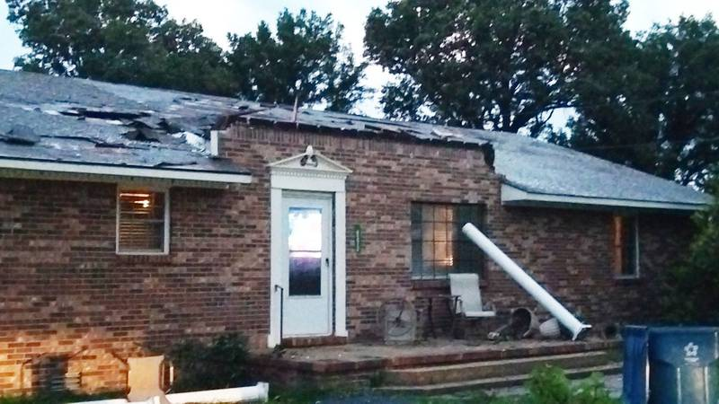 A tornado warning was issued for Butler County at the time a roof was blown off of a home near...
