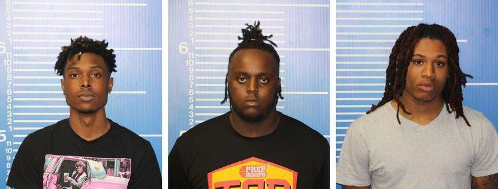 From left: Antonio Marcus Johnson, Jr., Deantrell Damon Beard and Tyshonne Lamar Williams were...