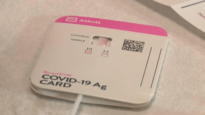 Abbott's BinaxNOW Rapid Antigen Self Test takes 15 minutes to show results.