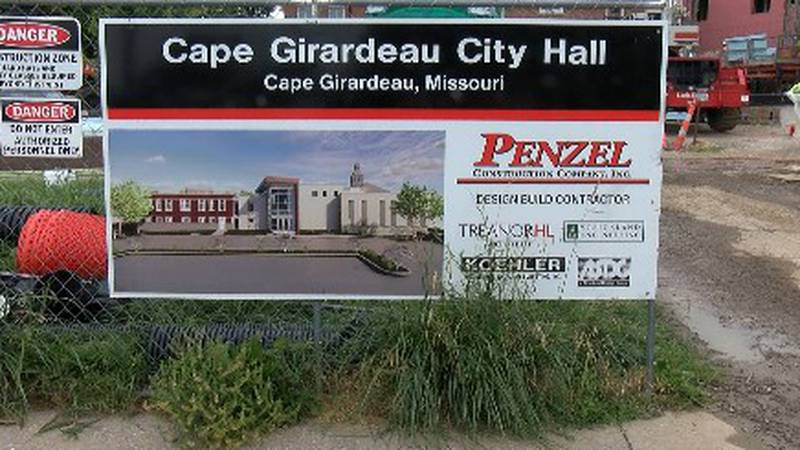 Crews working on the Cape Girardeau City Hall project got a surprise on Wednesday when roofing...