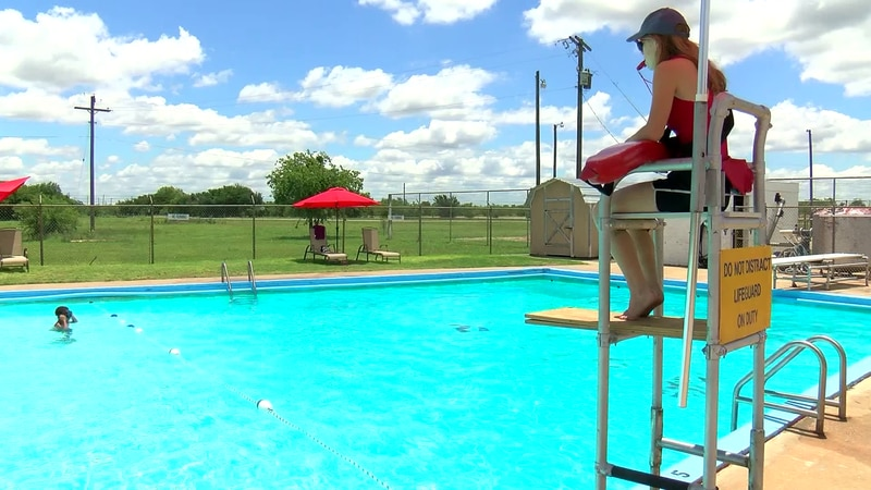 The pool is located at Tom Griffin Park.