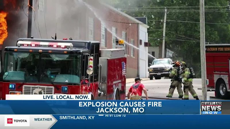 Fire in uptown Jackson results in explosion, short power outage