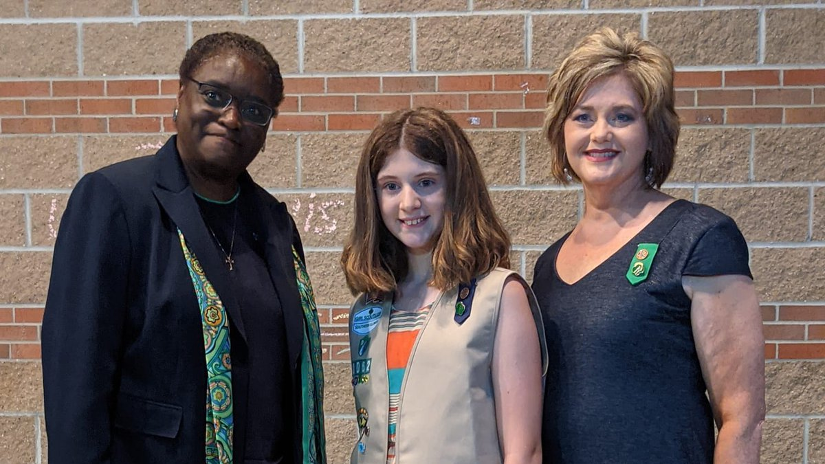 11-year-old Alana Campbell, of Carterville, Ill. was awarded the Girl Scout Medal of Honor...