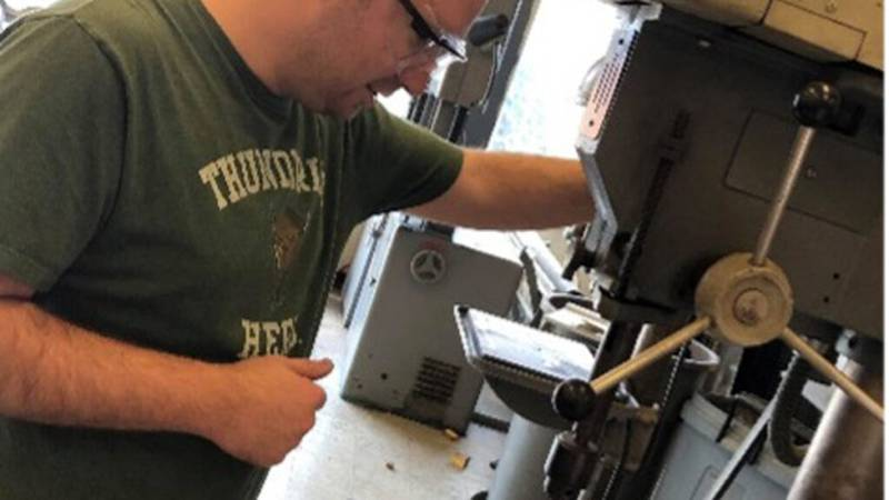 Mayson Pine, a mechanical engineering student at Southern Illinois University Carbondale from...