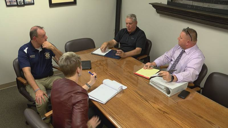 Meeting with Sheriff Bullard, retired Detective Mike Anthis and Detective Captain Scott Burge