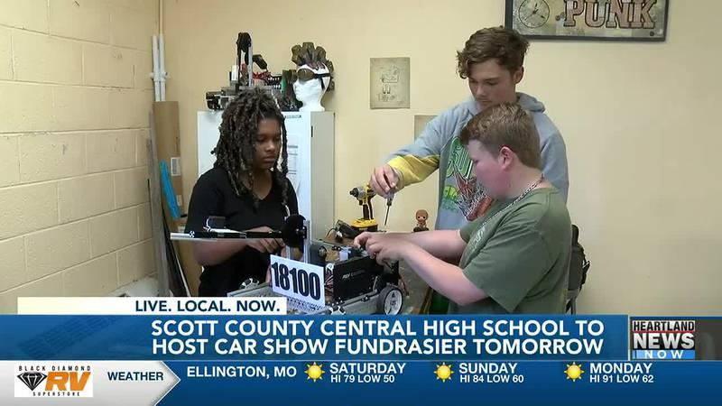 A car show is raising money for the Scott County Central robotics team.