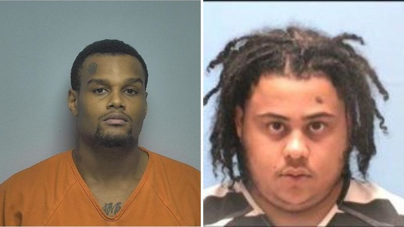 From left: Justin C. Wells and Rodrrick D. Moore were charged in connection to two separate,...