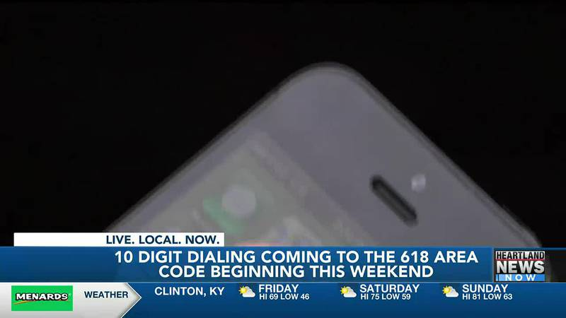 10-digit dialing begins in one part of southern Illinois this weekend.