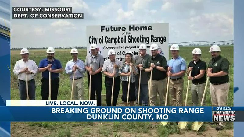 Breaking ground on shooing range in Dunklin Co.