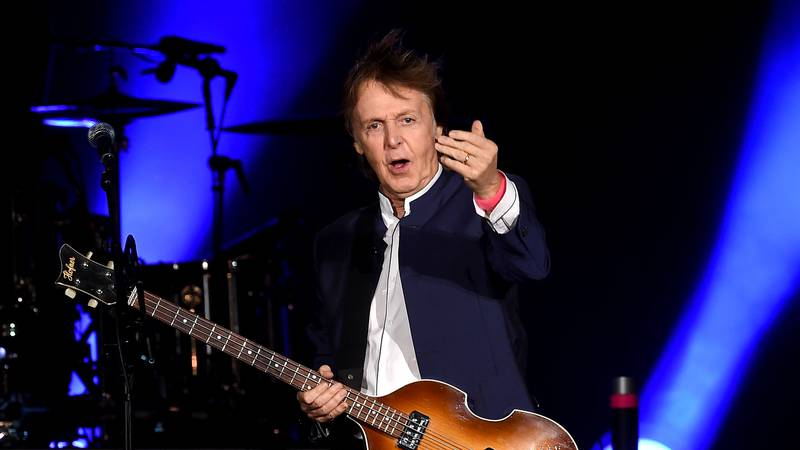 INDIO, CA - OCTOBER 15:  Musician Paul McCartney performs during Desert Trip at the Empire Polo...