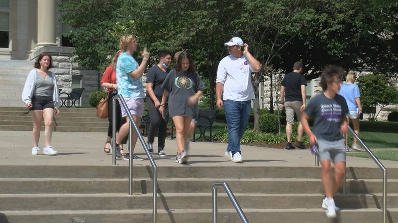 Students return to Southeast Missouri State University for the start of Fall classes. Some...