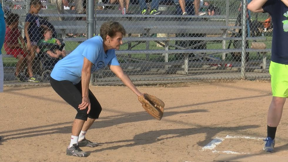 Helen plays the position of catcher (Source: KFVS)