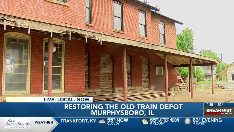 Murphysboro Main Street raising money to restore century-old train depot