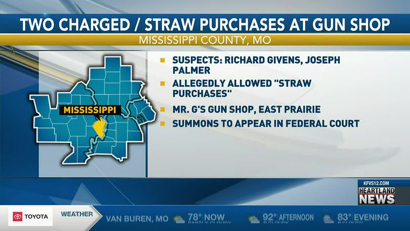 """Richard Givens and Joseph Palmar are accused of allowing """"straw purchases,"""" according to newly..."""
