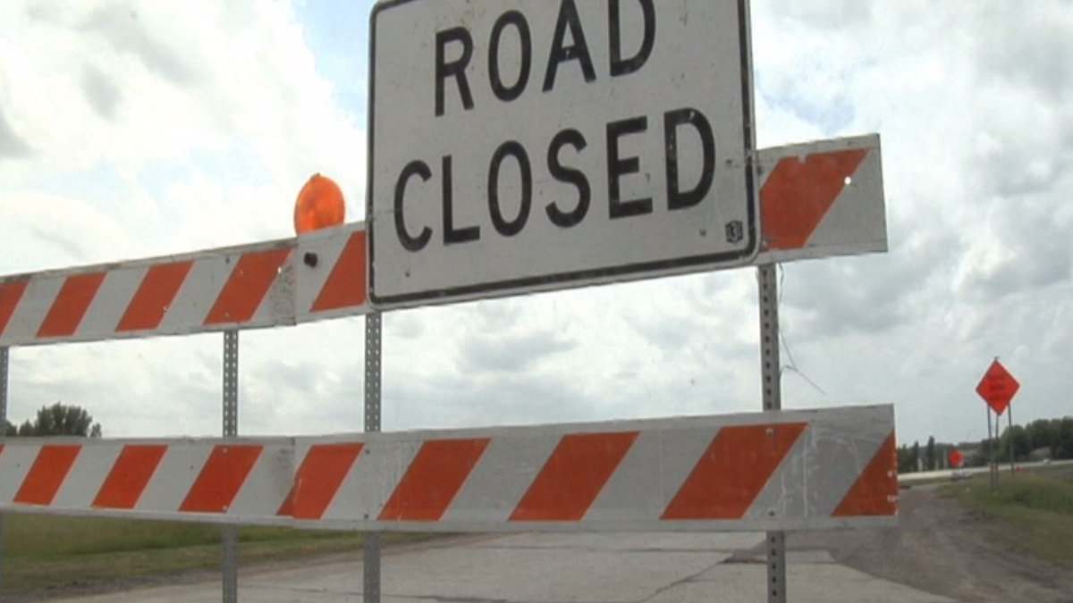 A detour will be in place until the work has been completed.