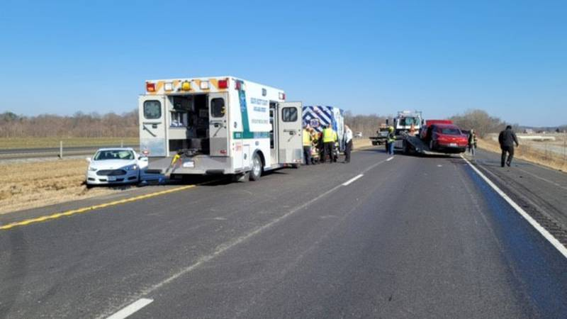 Crash happened following another crash a couple of miles up the interstate in Scott County.