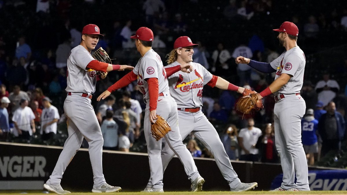 The St. Louis Cardinals made team history Saturday, September 25. (AP Photo/Charles Rex Arbogast)