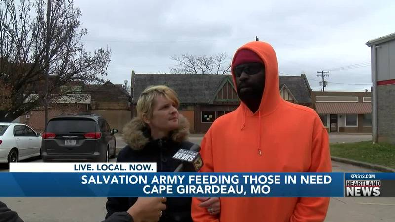 Salvation Army feeds those in need