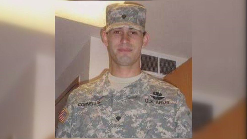 Cornelius was a helicopter mechanic in the Army, and an Iraq war veteran. (Source: John...