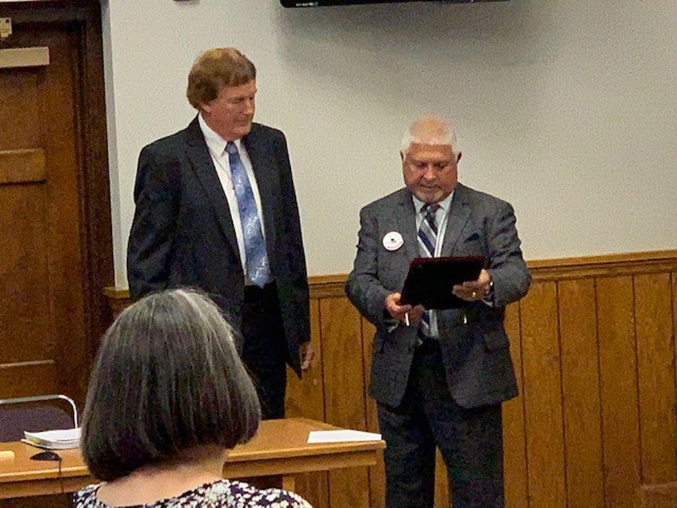 City Attorney Eric Cunningham received the Lou Czech Award.