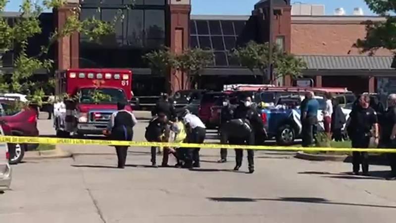 Ambulance on scene Collierville Kroger shooting