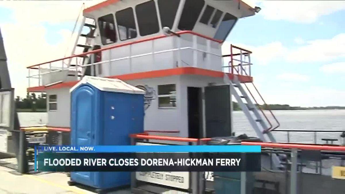 Dorena-Hickman Ferry closed ... again.