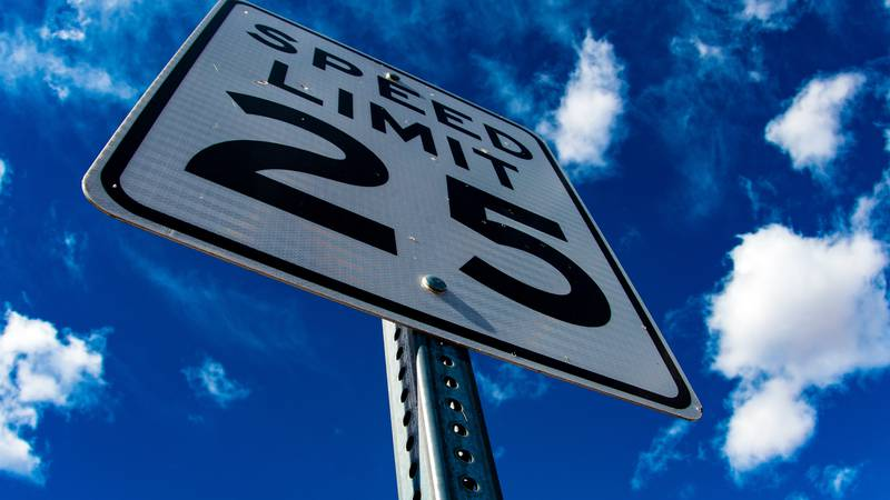 New speed limit signs were installed to reduce the 55 mph sign to 45 mph at U.S. 60/ Clarks...