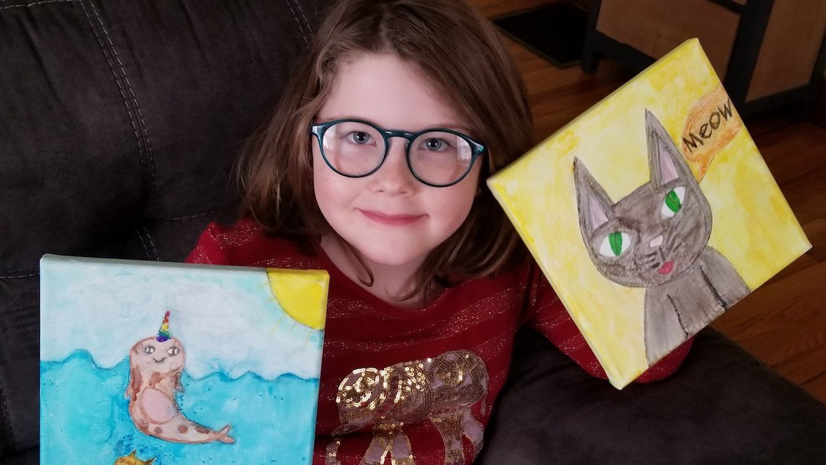 Ellie Fletter participated in the For Kids' Sake Stained Glass Workshop funded by a grant from...