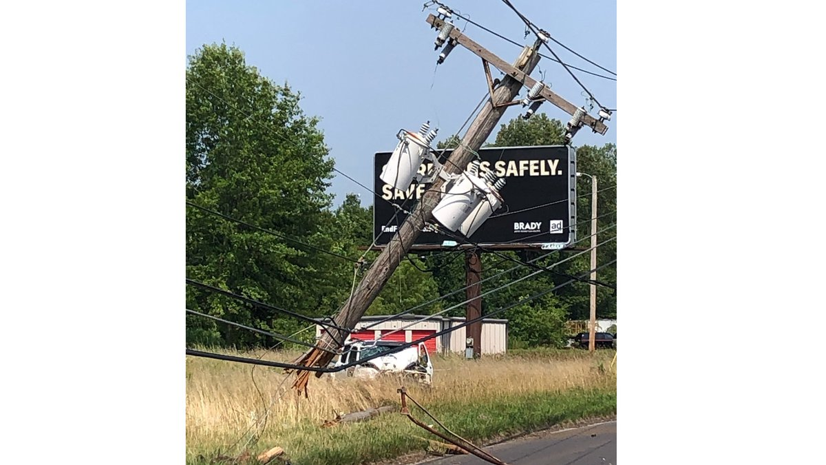 Paducah Power crews had to make repairs to a utility pole following a crash on Irvin Cobb Drive...