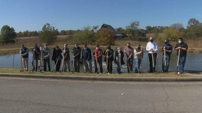 Ground breaking for new wastewater system
