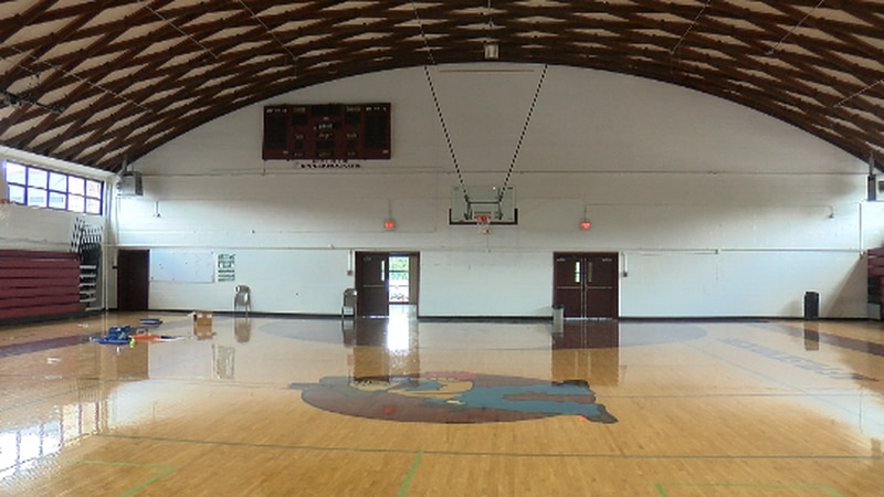 The Cobden High School gym, built in 1955, was ruled condemned.