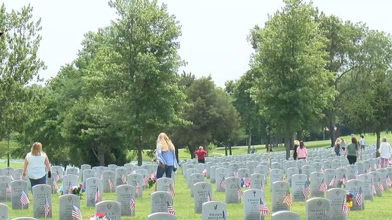 Folks in Bloomfield honored veterans on this memorial day holiday with a new wall dedication...