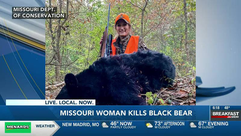A woman in Missouri is the ninth hunter to kill a black bear.