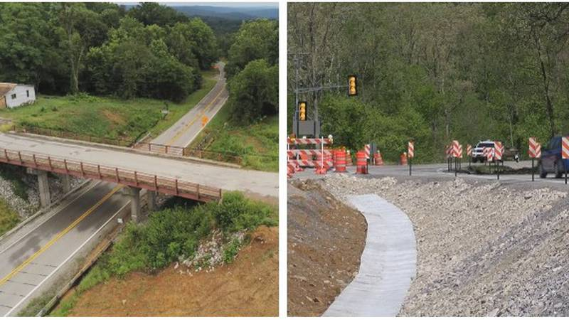 The project to demolish an old bridge over Rte. 127 in Alto Pass and complete the rebuilding of...