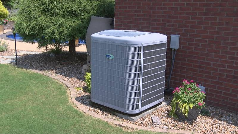 An air conditioning unit is running on at a home in Cape Girardeau.