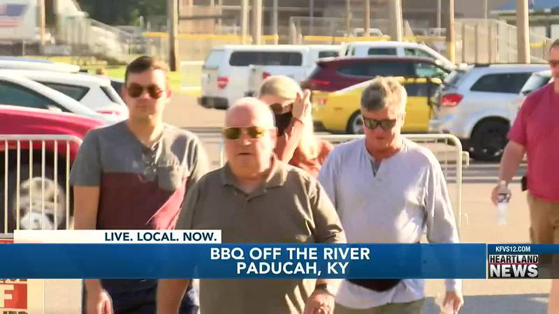 As a dozen teams serve BBQ all in different locations across Paducah, in efforts to keep the...