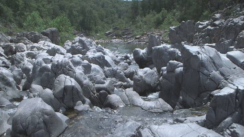 Johnson's Shut-Ins State Park in Reynolds County is one of Missouri's most popular state parks.