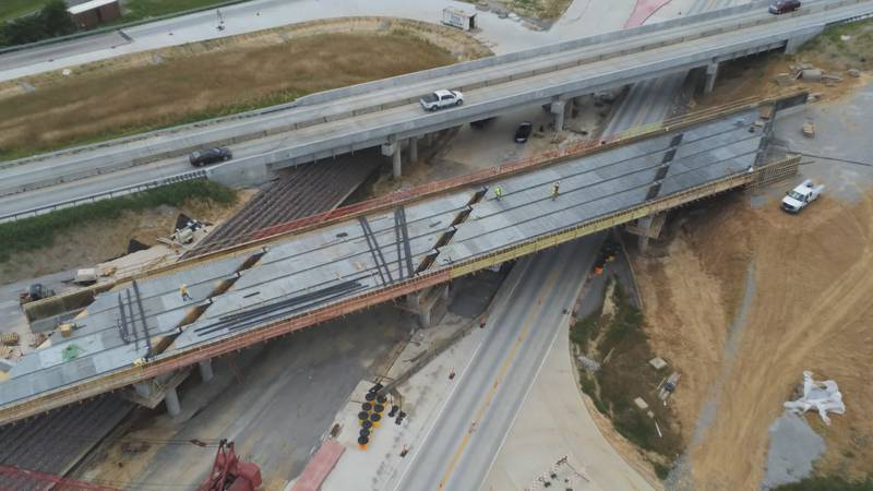 MoDOT crews are now sitting at a month ahead of schedule as contractors are working on the...