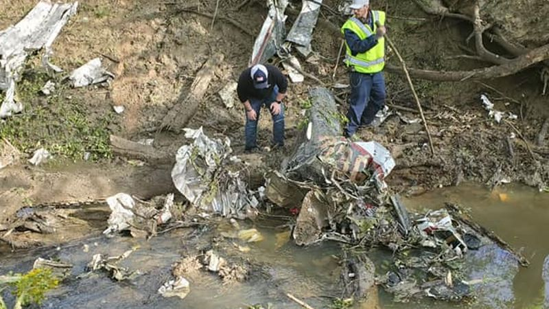 Two people died in a plane crash in Haywood County April 20, 2021.