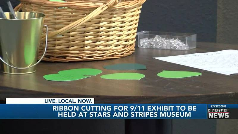 Stars and Stripes museum ribbon cutting exhibit
