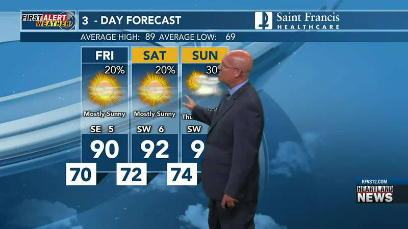 Your First Alert forecast at 5 p.m. on 7/22.