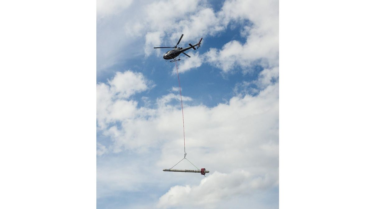 The USGS will be using the CGG RESOLVE helicopter system to gather geophysical information...