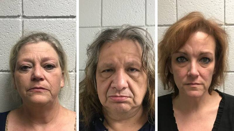 Three people were arrested, two on drug charges - D. Sotelo, J. Sotelo & J. Gilbert (Source:...