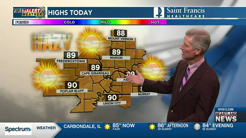 Your First Alert forecast at noon on 7/22.