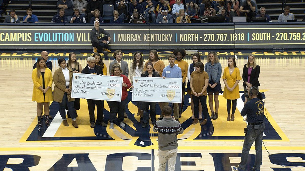 Murray State University's nonprofit leadership class donated a $3,000 grant to CASA by the...
