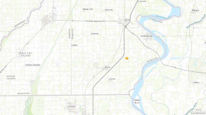 According to the USGS, a magnitude 2.7 quake registered 5.3 miles northeast of Steele shortly...