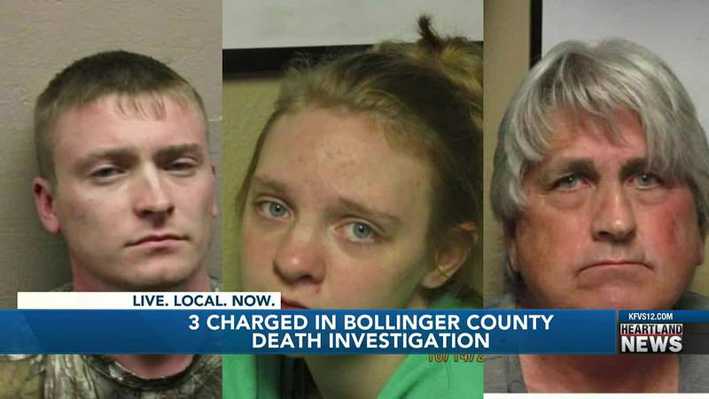 Three people charged in Bollinger County death investigation