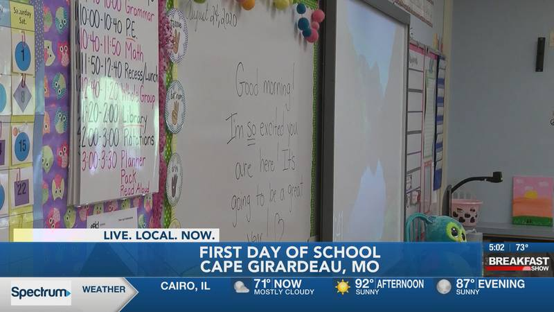 First day of school for Cape Girardeau Public Schools.